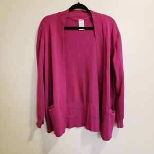 White Stag Pink/Purple Open Front Cardigan